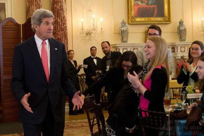 Me with Secretary of State John Kerry