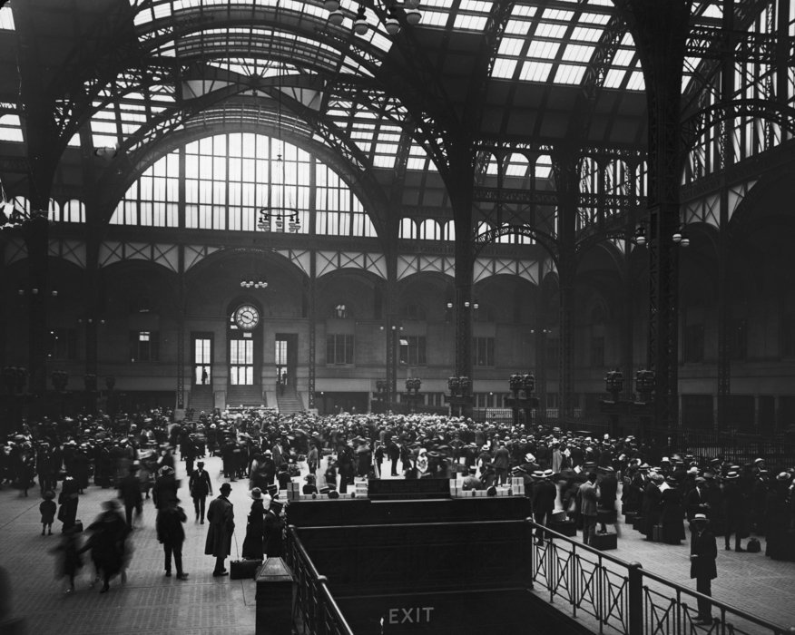 Penn Station in the early 20th century