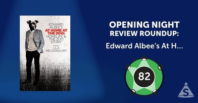 """Edward Albee's At Home at the Zoo,"" written by Edward Albee and directed by Lila Neugebauer, opened on February 21, 2018 in New York City."