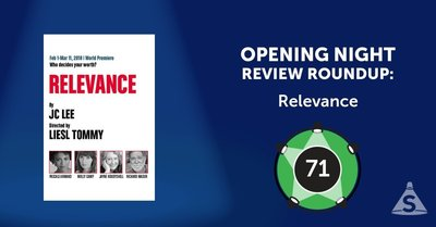 """Relevance,"" written by JC Lee and directed by Liesl Tommy, opened on February 20, 2018 in New York City."