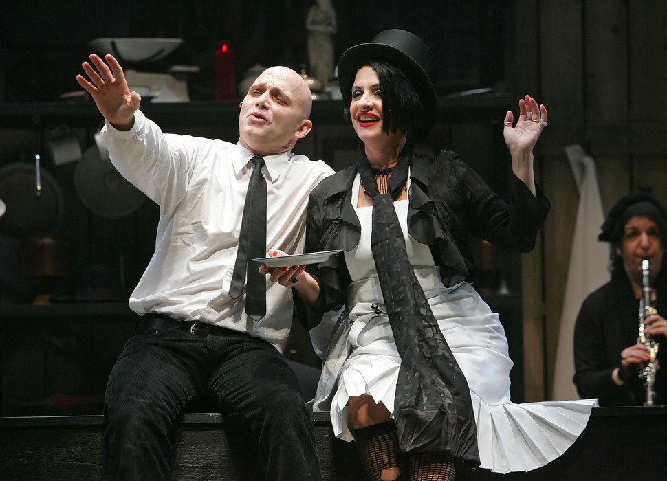 "Michael Cerveris and Patti LuPone: 2005 Broadway revival of ""Sweeney Todd"""