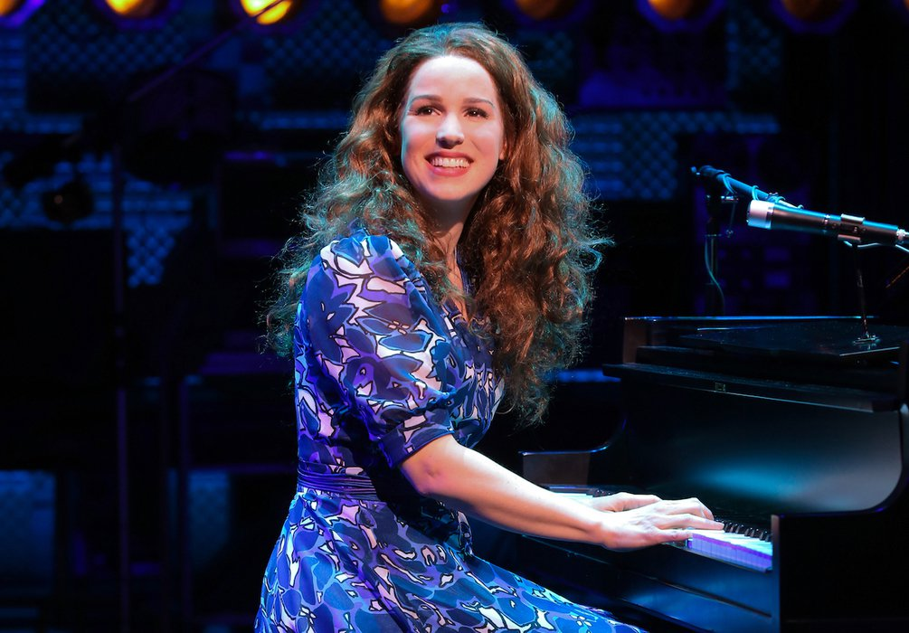 "Chilina Kennedy as Carole King in ""Beautiful - The Carole King Musical"" on Broadway at the Stephen Sondheim Theater"