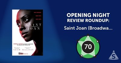 """Saint Joan (Broadway)"", written by George Bernard Shaw and directed by Daniel Sullivan opened on April 25, 2018 in New York City."