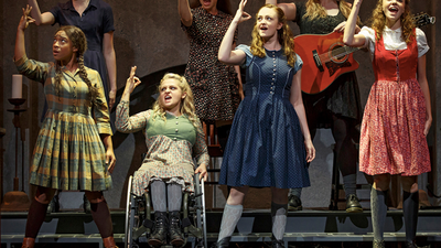 "Treshelle Edmond, Ali Stroker, Amelia Hensley and Lauren Luiz in ""Spring Awakening,"" proudly displaying disability onstage"