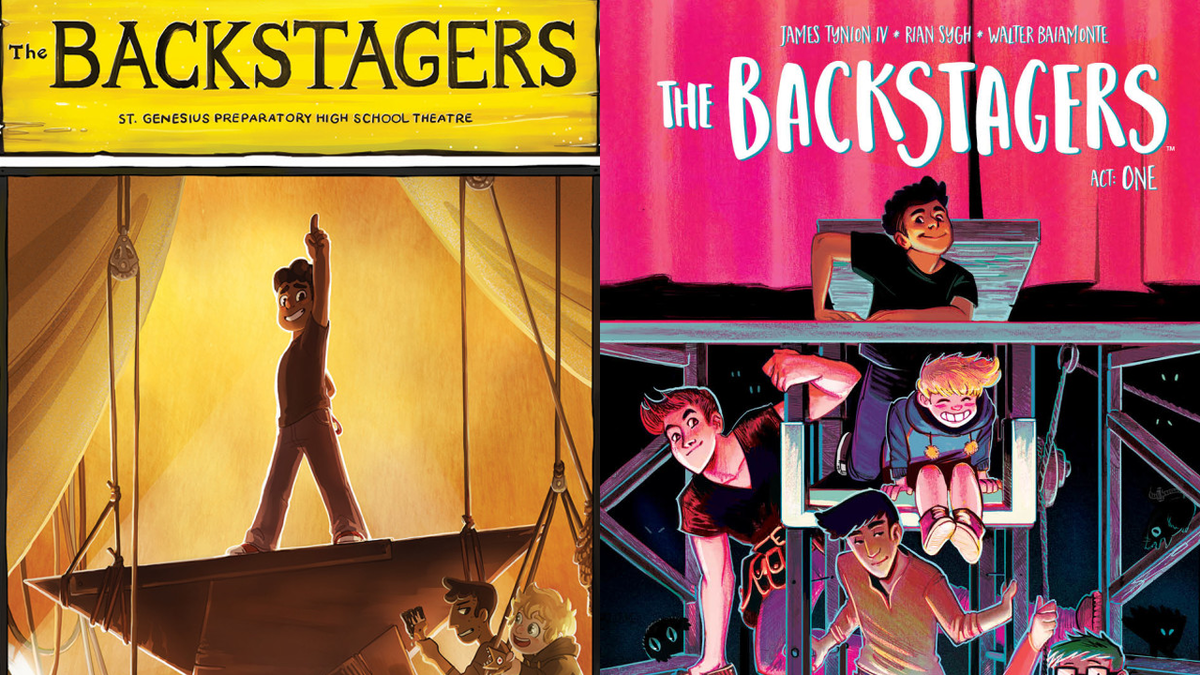 """The Backstagers"" covers (comic series written by James Tynion IV, illustrated by Rian Sygh, published by BOOM! Studios)"