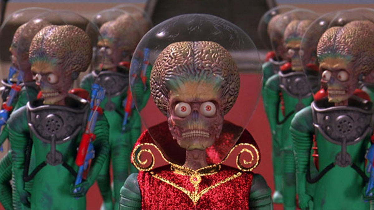 "Screencap from ""Mars Attacks!"" (1996)"