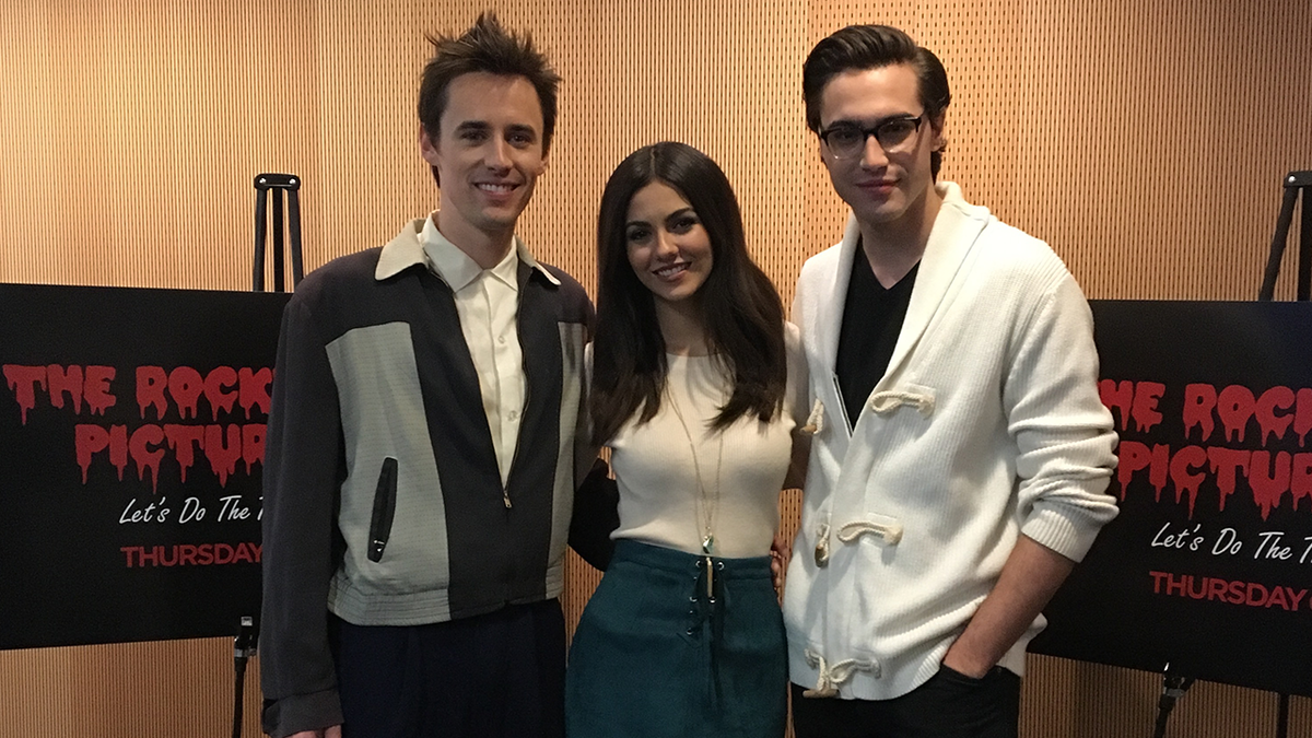 "Reeve Carney, Victoria Justice, and Ryan McCartan at last week's press event for Fox's ""The Rocky Horror Picture Show"""