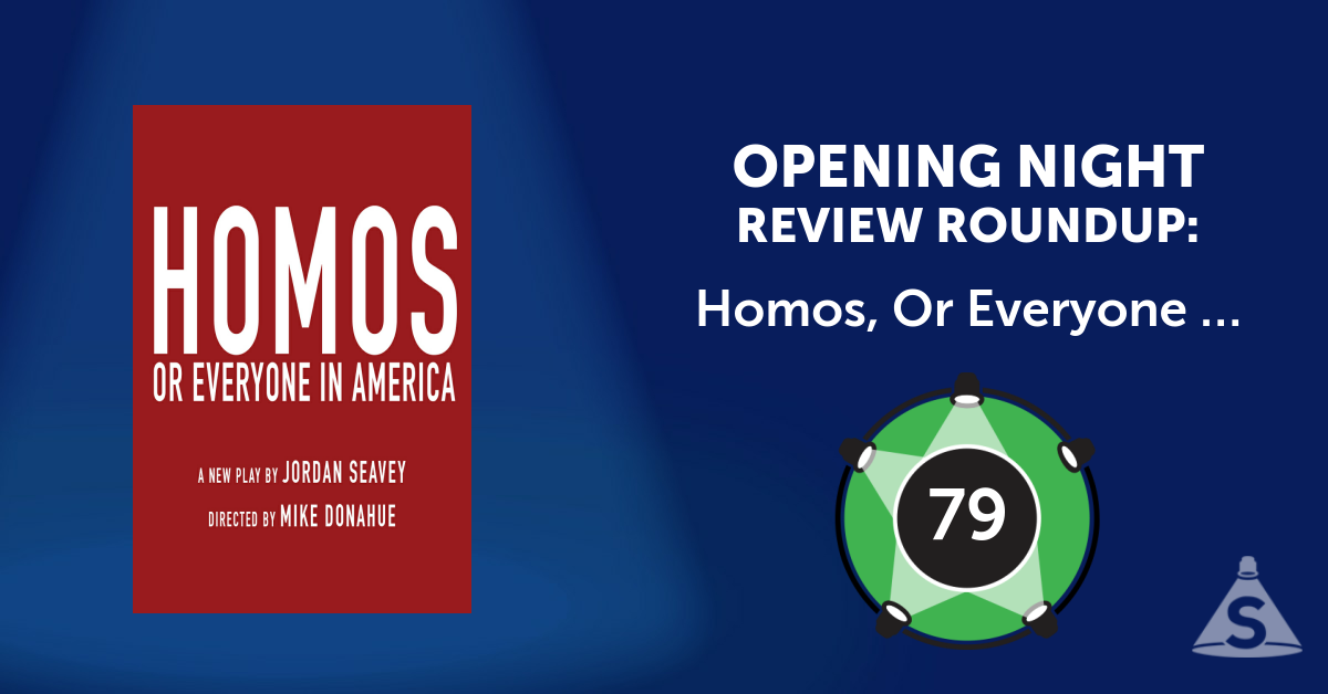 """Homos, or Everyone in America,"" written by Jordan Seavey and directed by Mike Donahue, opened on November  6, 2016 in New York City."