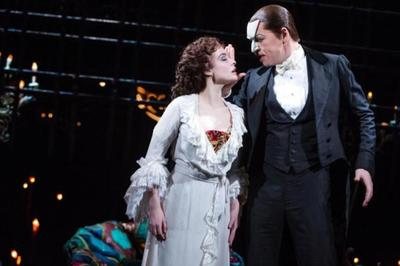 "Julia Udine and James Barbour in ""The Phantom of the Opera"""