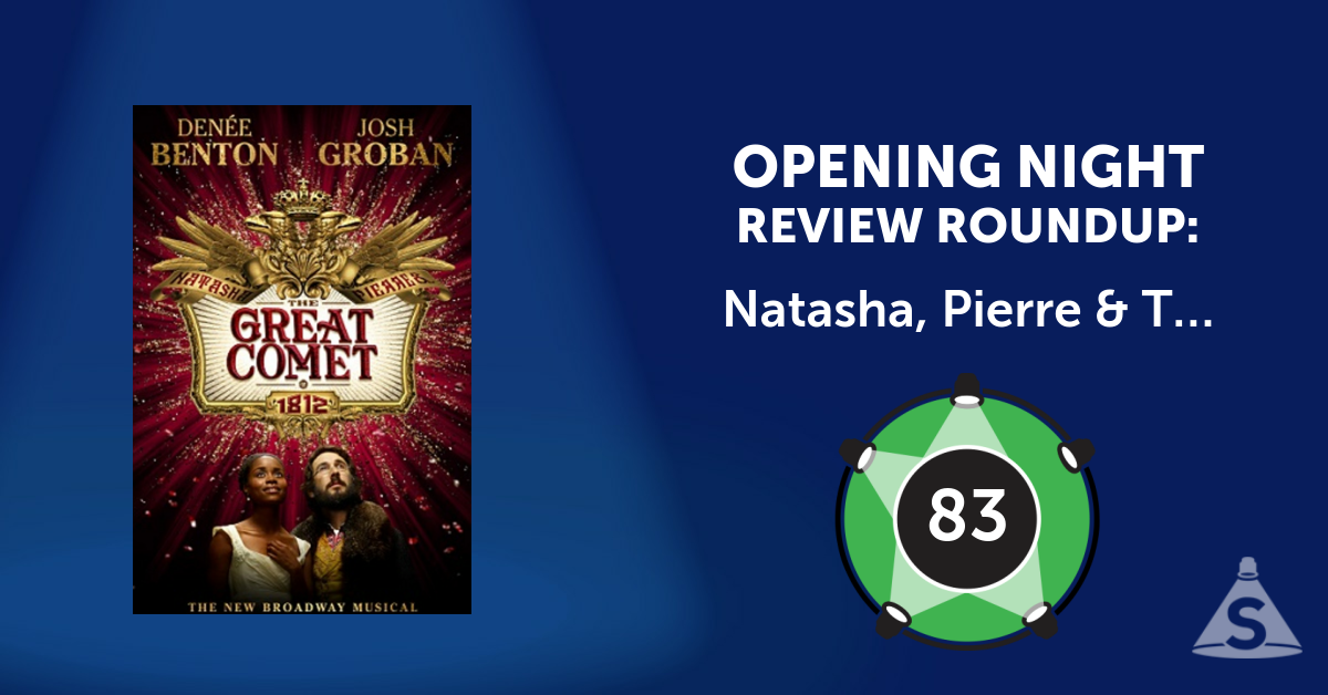 """Natasha, Pierre & The Great Comet of 1812,"" with songs by Dave Malloy and directed by Rachel Chavkin, opened on November 14, 2016 in New York City."