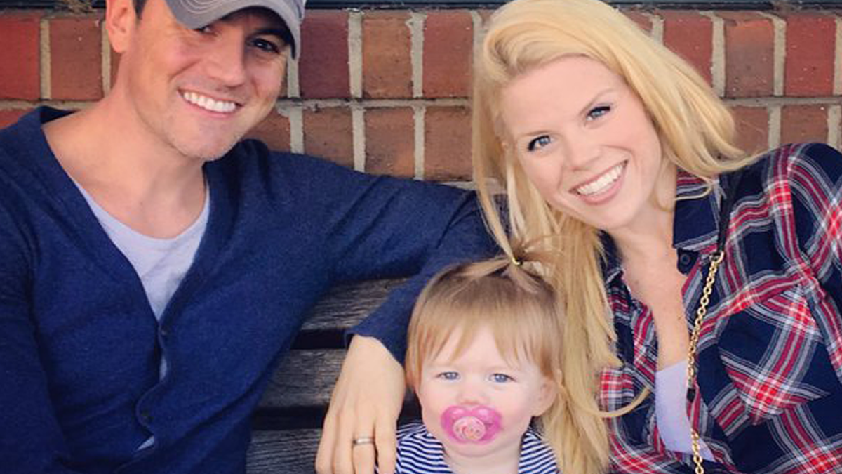 Megan Hilty, Brian Gallagher and daughter, Viola