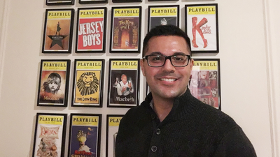 Dan and his Playbill collection!