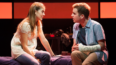 "Laura Dreyfuss and Ben Platt in ""Dear Evan Hansen"""