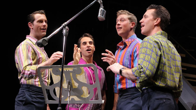 "The cast of ""Jersey Boys"" at Tulsa's Performing Arts Center"