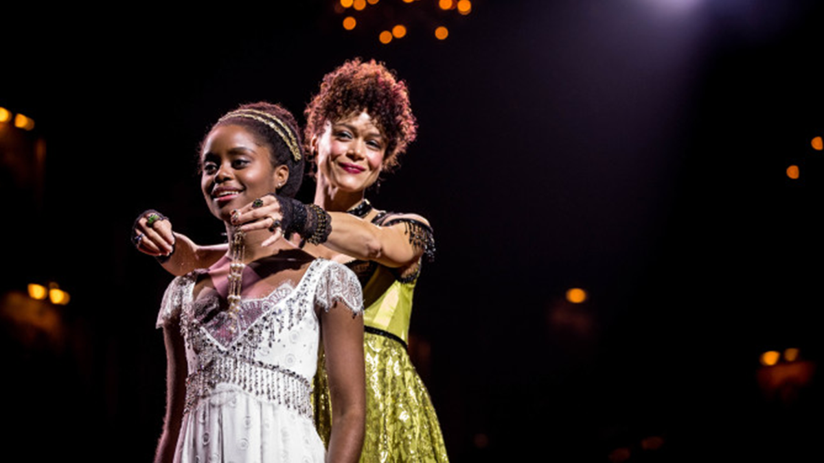 "Denée Benton and Amber Gray in ""Natasha, Pierre & the Great Comet of 1812"""