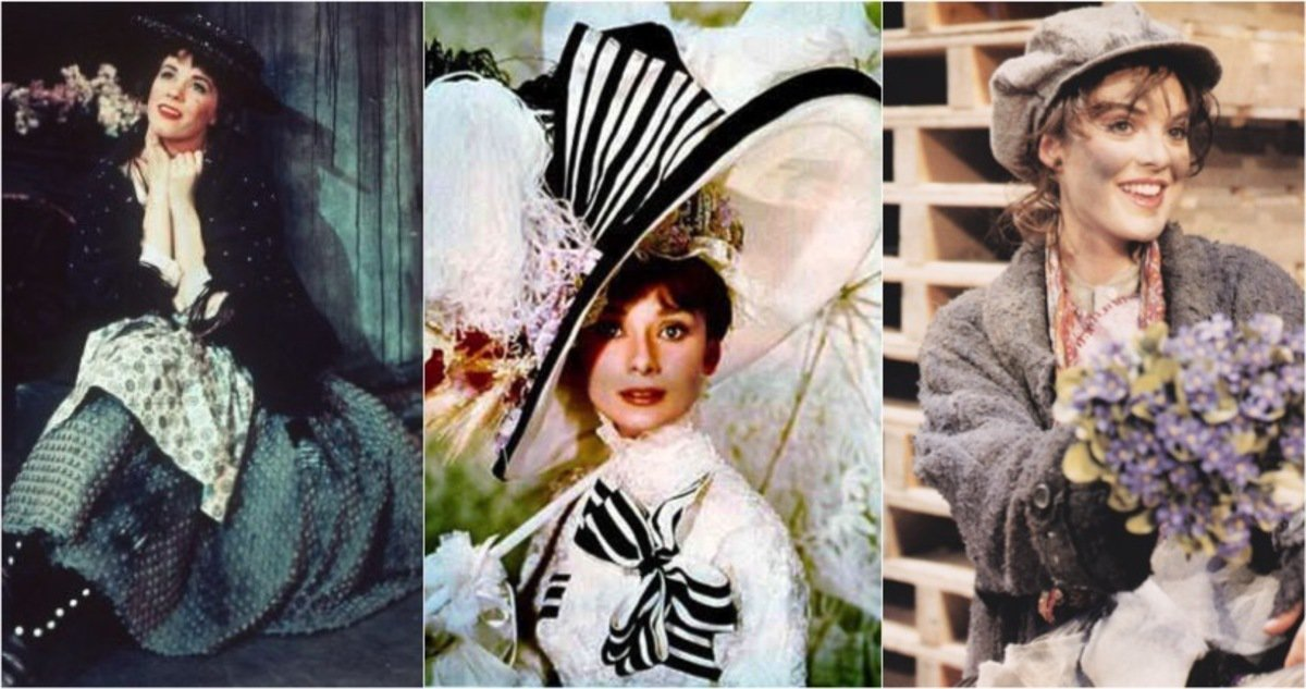 "Audrey Hepburn, Julie Andrews, Melissa Errico as ""Eliza Doolittle"""