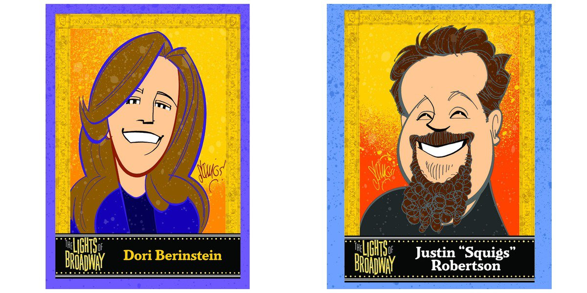 "Dori Berinstein and Justin ""Squigs"" Robertson's Cards"