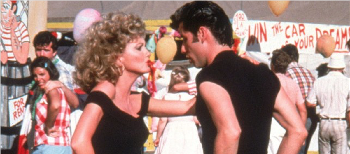 "Olivia Newton-John and John Travolta in ""Grease"""