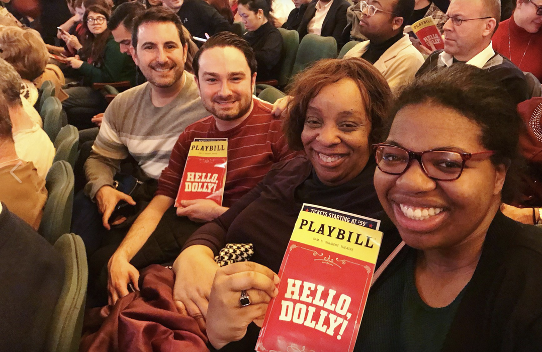 "Members enjoying ""Hello, Dolly!"" at our Show-Score Social!"