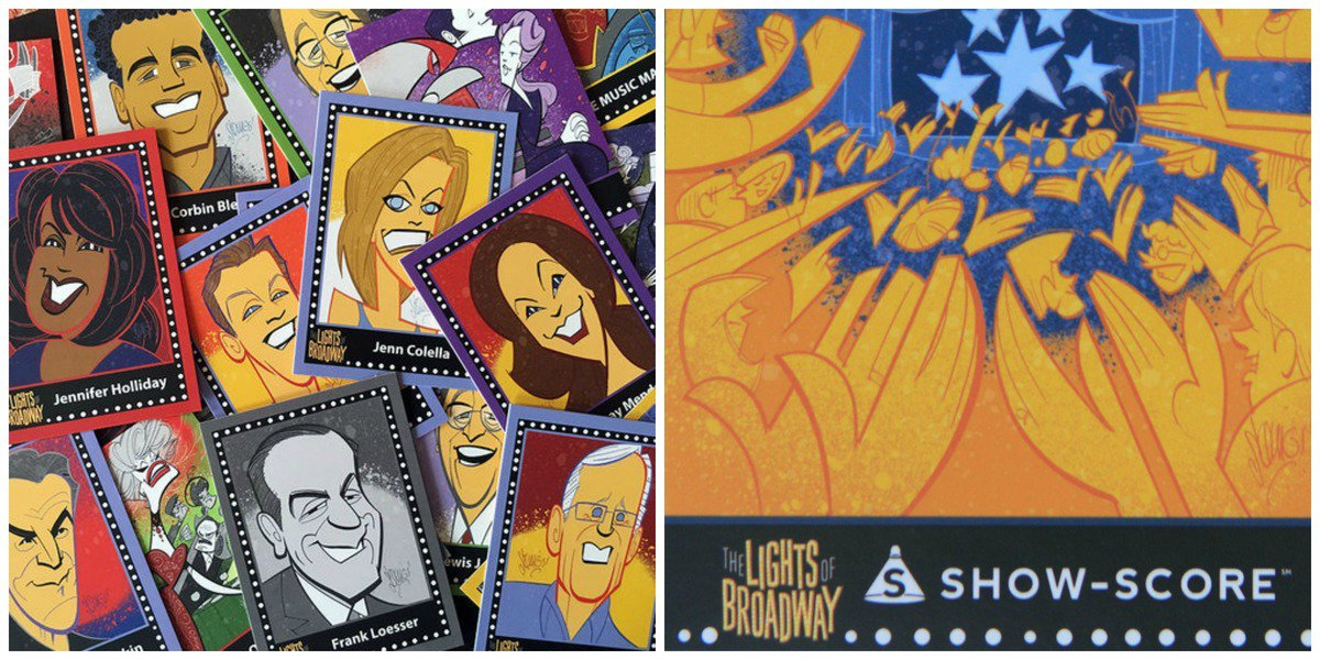 Lights of Broadway Cards, and a sneak peak of our own Show-Score card!
