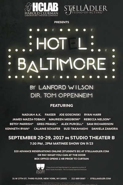 Hot L Baltimore (Harold Clurman Lab)