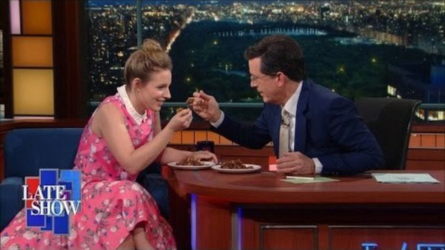 Jessie Mueller Chats and Sings With Stephen Colbert Over Pecan Pie - Waitress
