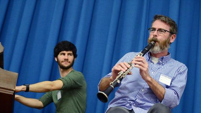 'The Band's Visit' theater musicians give East Harlem schoolkids cultural music lesson - The Band's Visit