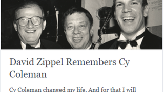 David Zippel Remembers Cy Coleman - Pamela's First Musical