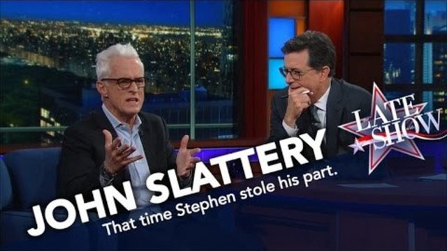 John Slattery of 'The Front Page' Held a 25-Year Grudge Against Stephen Colbert - The Front Page