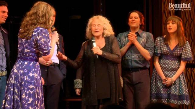 Carole King Surprises (and Sings with) the Cast of 'Beautiful' - Beautiful: The Carole King Musical