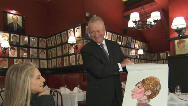 Barbra Streisand's caricature is back at Sardi's - Sardi's Tour