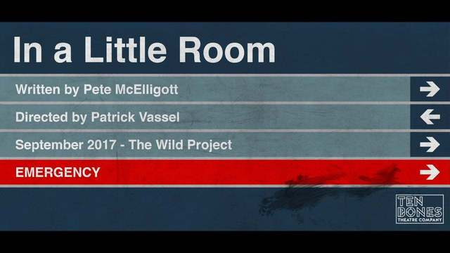 "Playwright, Pete McElligott, and Director, Patrick Vassel, Talk a Bit About ""In a Little Room"" - In a Little Room"