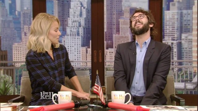 Josh Groban discuss the show while he co-hosts 'Live! with Kelly' - Natasha, Pierre & The Great Comet of 1812
