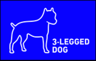 3-Legged Dog Media + Theater Group Logo